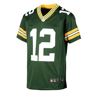 Nike Green Bay Packers AARON RODGERS 12 Trikot Kinder grün