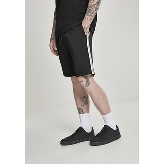 URBAN CLASSICS Shorts Side Taped weiß/grau