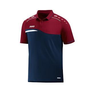 Jako Poloshirt Competition 2.0 marine/dunkelrot