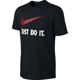 Nike T-Shirt Just Do It Swoosh Schwarz/Rot/Weiß