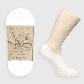 Bambusa Sneakersocken - 7 Paar Weiß