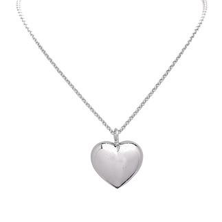 S. Oliver Damen Halskette 45 cm mit Herz-Anhänger Silber