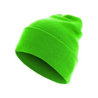 MasterDis Beanie Basic Flap Long neongrün