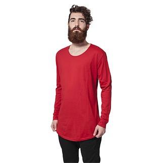 URBAN CLASSICS Sweatshirt Long Shaped Fashion Rot