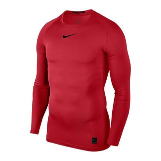 Nike Pro Langarmshirt Top Compression Crew Rot