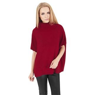 URBAN CLASSICS Poncho Knitted Damen Rot