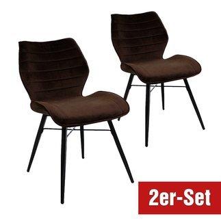 BREAZZ Stuhl Branca 2er Set braun