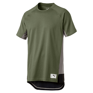 Puma T-Shirt NEXT Casuals Graphic Oliv/Grau