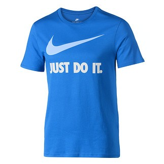 Nike T-Shirt Just Do It Swoosh Blau/Hellblau