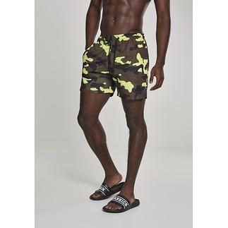 URBAN CLASSICS Schwimmshorts Camo gelb/camouflage