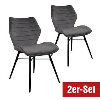 BREAZZ Stuhl Branca 2er Set grau