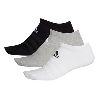 Adidas Sportsocken 3er Pack LIGHT LOW Schwarz/Grau/Weiß