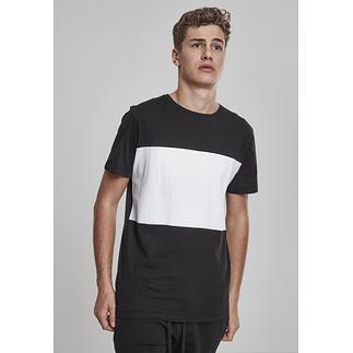 URBAN CLASSICS T-Shirt Contrast Panel schwarz/weiß