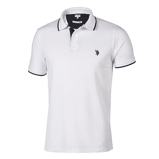 U.S. POLO ASSN. Poloshirt Fashion weiß/navy
