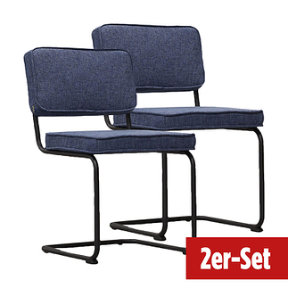 BREAZZ Stuhl Rib Industrial 2er Set schwarz