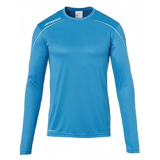 uhlsport Trainingsshirt Langarm Stream 22 cyan/weiß