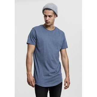 URBAN CLASSICS T-Shirt Shaped Melange Long blau