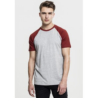 URBAN CLASSICS T-Shirt Raglan Contrast grau/rost