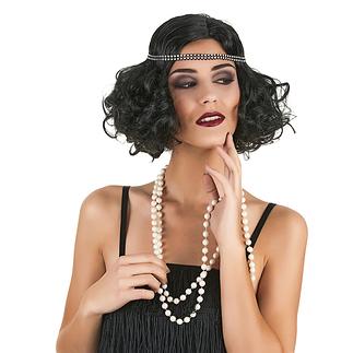 Karnevals- Perücke Charleston Damen schwarz