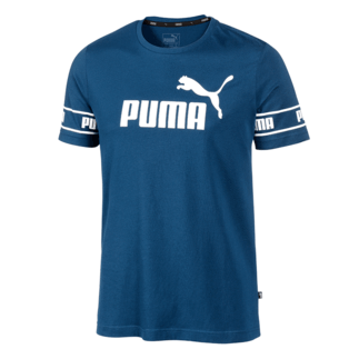 Puma T-Shirt Big Logo Amplified Dunkelblau