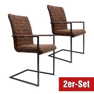 BREAZZ Stuhl Monza 2er Set braun