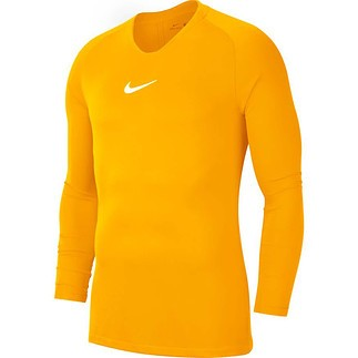 Nike Dri-FIT First Layer Park Langarm Funktionsshirt Gelb
