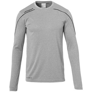 uhlsport Trainingsshirt Langarm Stream 22 grau/schwarz