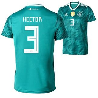 Adidas Deutschland WM 2018 DFB Trikot Auswärts HECTOR