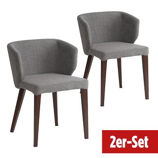 BREAZZ Stuhl Fabric 2er Set grau
