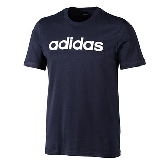 Adidas T-Shirt Linear blaugrau/weiß