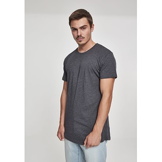 URBAN CLASSICS T-Shirt Shaped Long dunkelgrau