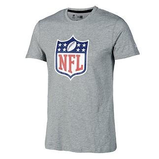 New Era NFL Shield T-Shirt Lightweight Cotton grau