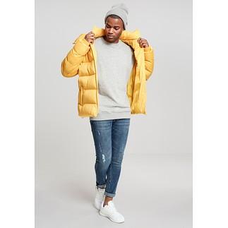 URBAN CLASSICS Winterjacke Hooded Boxy Puffer gelb