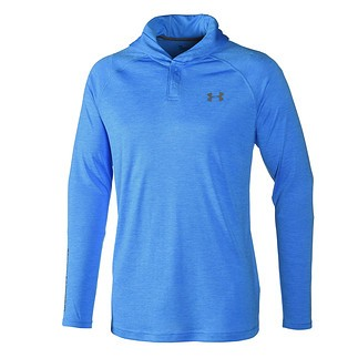 Under Armour Hoodie Tech Popover Henley blau/grau