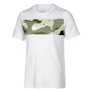 Nike T-Shirt CAMO Print Weiß