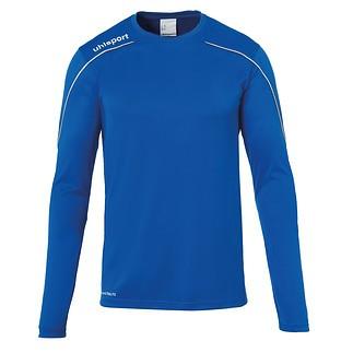uhlsport Trainingsshirt Langarm Stream 22 azurblau/weiß