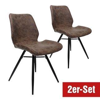 BREAZZ Stuhl Luzern 2er Set braun