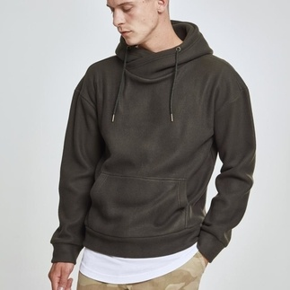 URBAN CLASSICS Hoodie Polar Fleece High Neck oliv