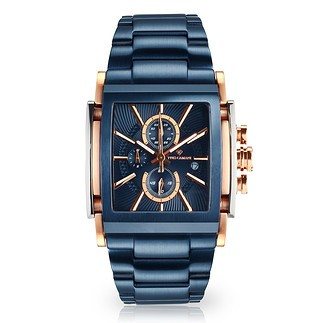 Yves Camani ESCAUT Chronograph Edelstahl Blau
