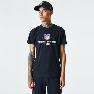 New Era NFL Shield T-Shirt Established schwarz