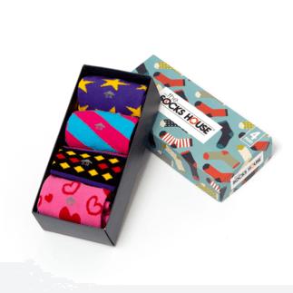 The Socks House Damensocken 4er Pack Geschenkbox Theme bunt