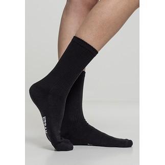 URBAN CLASSICS Socken Sport Logo 3er-Pack schwarz