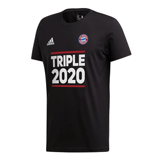 Adidas FC Bayern München T-Shirt Triple Sieger 2020 Schwarz