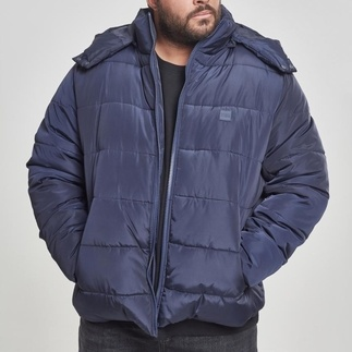 URBAN CLASSICS Jacke Hooded Puffer navy