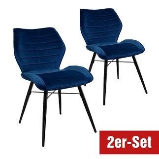 BREAZZ Stuhl Branca 2er Set blau