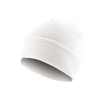 MasterDis Beanie Basic Flap weiß