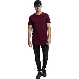 URBAN CLASSICS T-Shirt Shaped Long weinrot