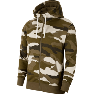 Nike Kapuzenjacke Club Fleece Camo Oliv
