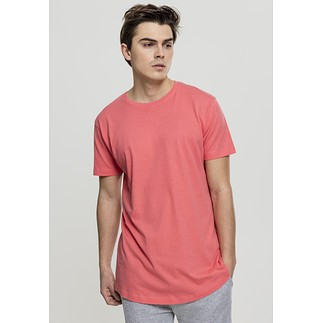 URBAN CLASSICS T-Shirt Shaped Long koralle