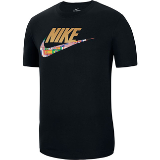 Nike T-Shirt Flaggen Schwarz
